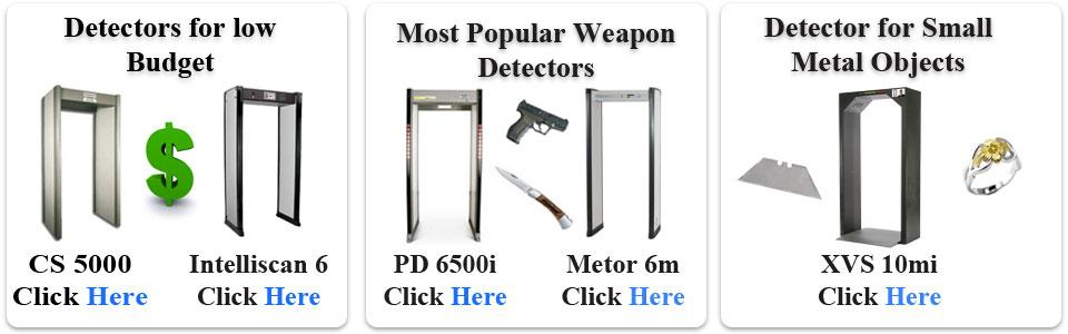 Walk through metal detector types